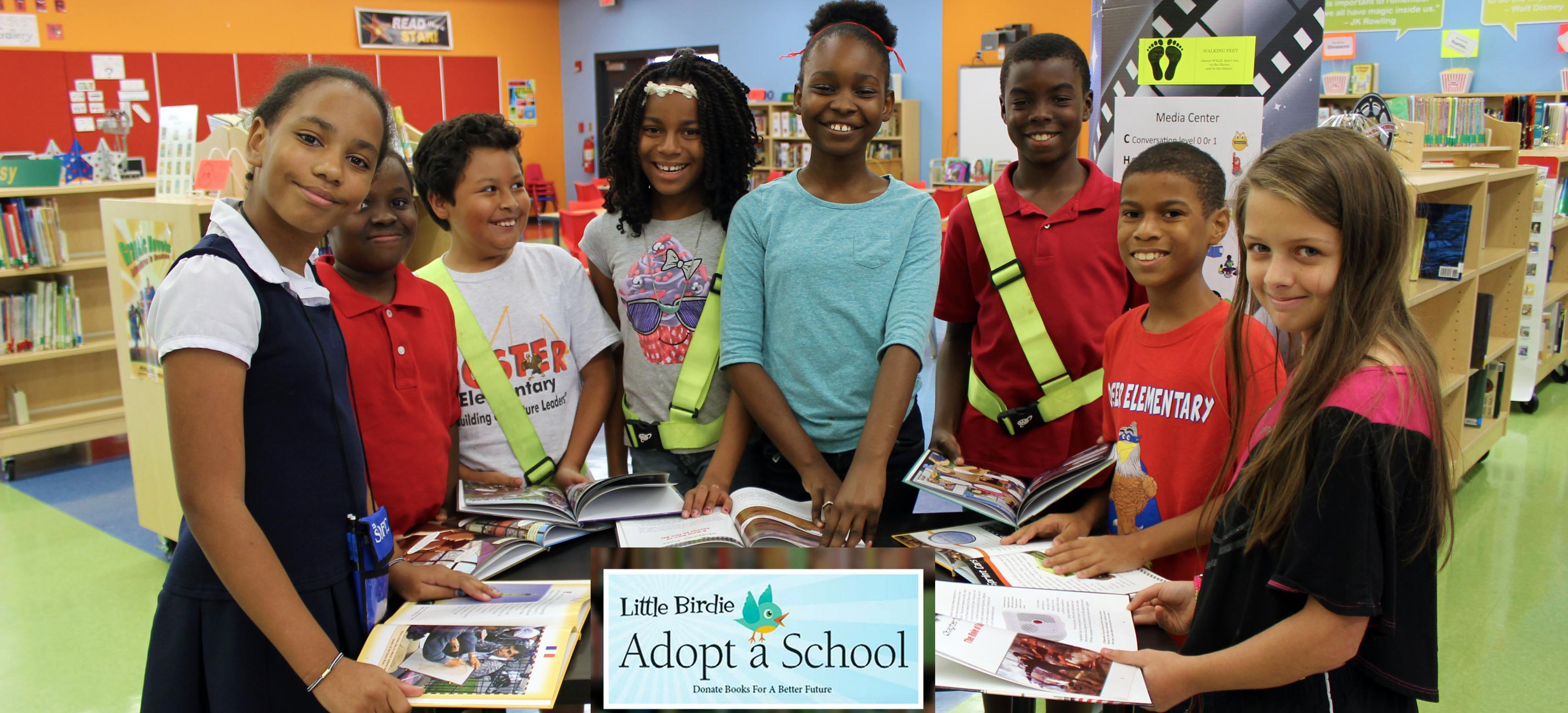Image for Little Birdie Adopt-a-School delivers books and smiles