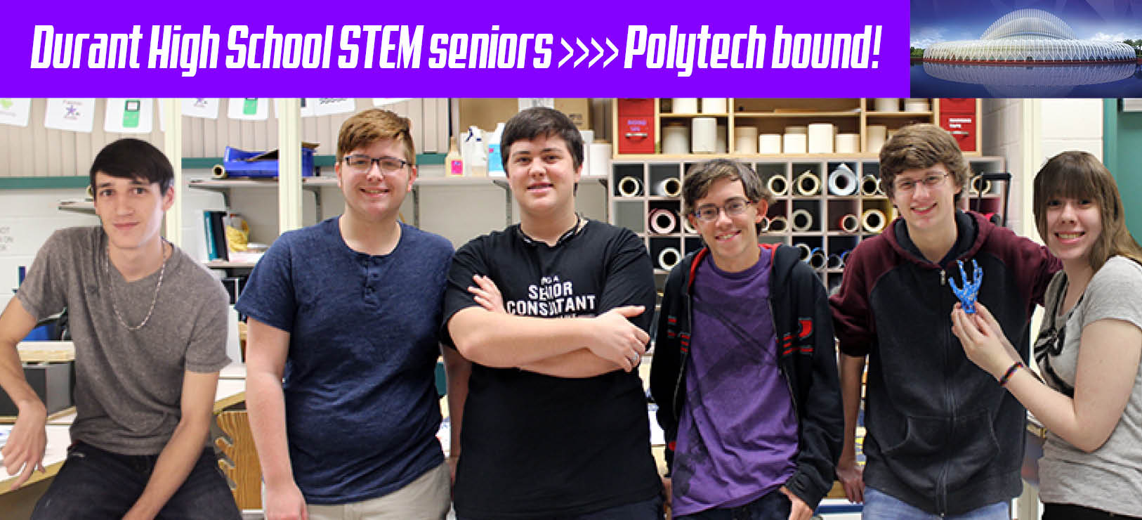 Image for Durant STEM students bound for Florida Polytechnic University