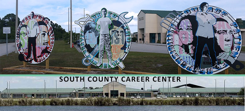 Image for Murals make bold statement at South County Career Center