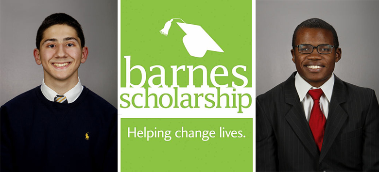 Image for Two High School Seniors Win $15,000 Barnes Scholarship