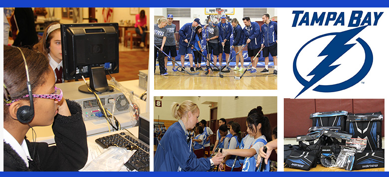 "Image for Hockey scholar program ""Builds the Thunder"" one school at a time"