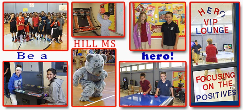 Image for A school culture built by HEROS at Hill Middle School