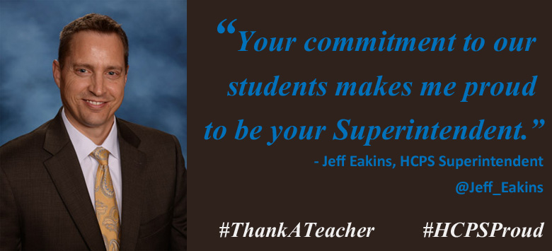 Image for Superintendent Thanks HCPS Educators
