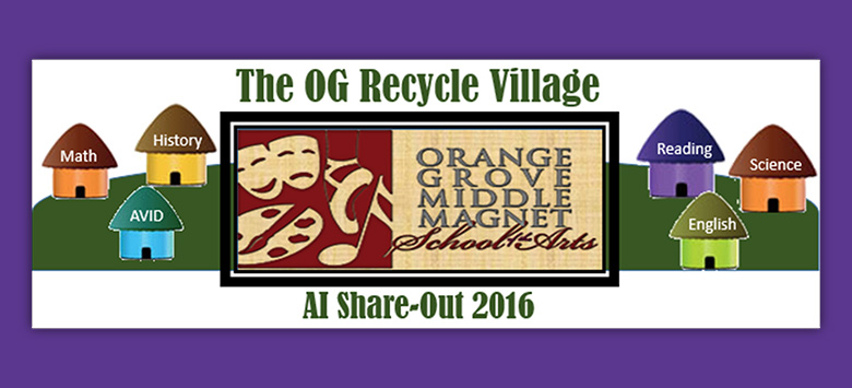 "Image for ""Recycle Village"" flourishes at Orange Grove Middle Magnet School of Arts"