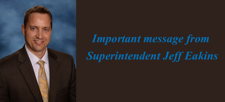 Image for Important message from Superintendent