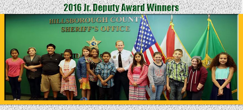 Image for Hillsborough County Sheriff's Office Honors Young Student-Deputies