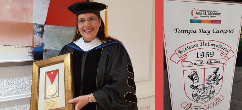 Image for Susan L. Valdes receives prestigious Presidential Medal from the Ana G. Mendez University System