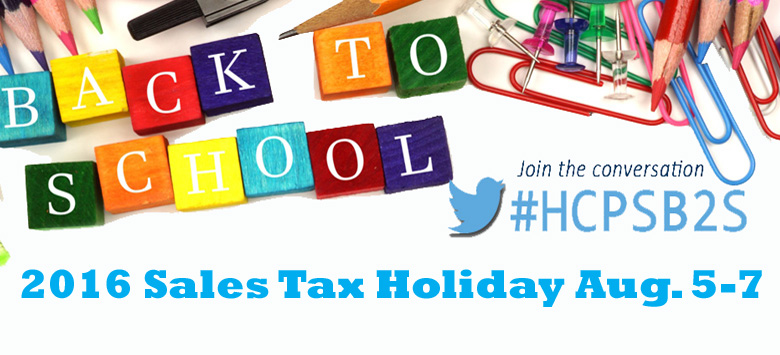 Image for Back-to-School Sales Tax Holiday August 5-7, 2016
