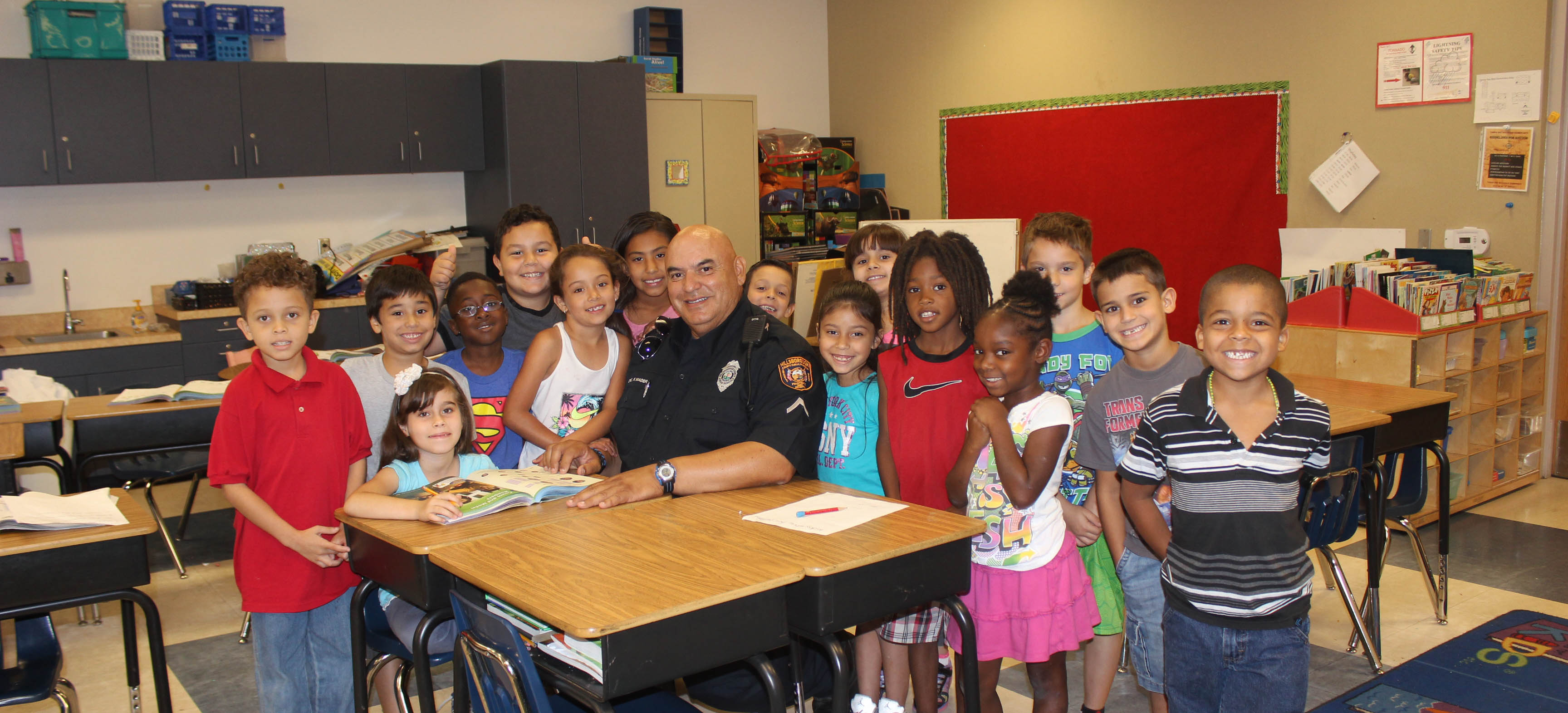Image for School security officer is the heart of Tampa Bay Boulevard Elementary
