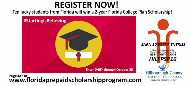 Image for Register to win a 2-year Florida Prepaid College Scholarship