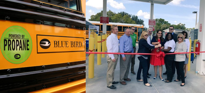 Image for District hosted ribbon cutting for new propane fueling station