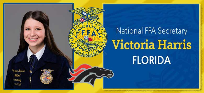 Image for Strawberry Crest graduate Victoria Harris becomes National FFA Secretary