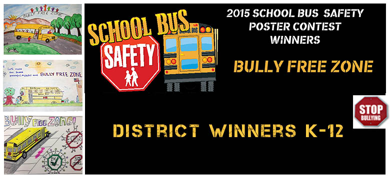 Image for District celebrates bus safety poster contest winners