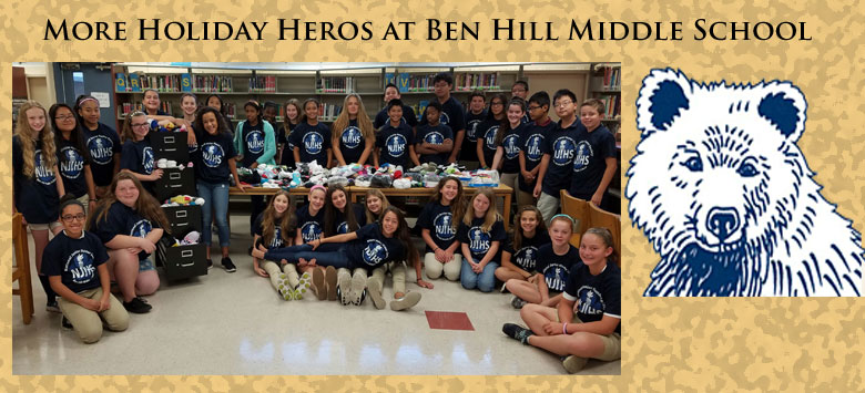Image for Hill Middle School students give back to the community