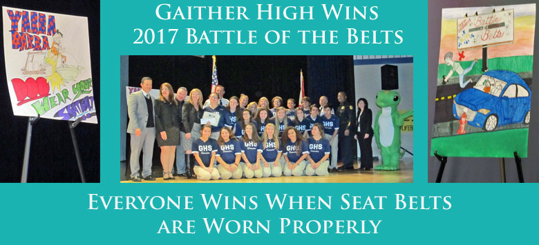 Image for High school students promote traffic safety with Battle of the Belts