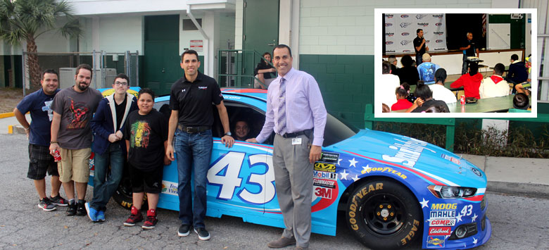 Image for NASCAR star and HCPS Grad visits Pierce MS