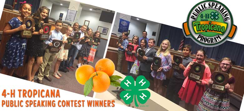 Image for 4-H Tropicana Public Speaking Program winners announced