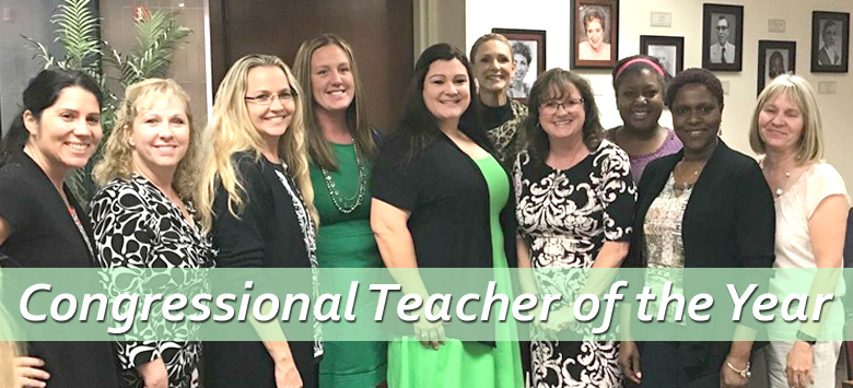 Image for Boyette teacher chosen as the 16th Congressional District Elementary Teacher of the Year