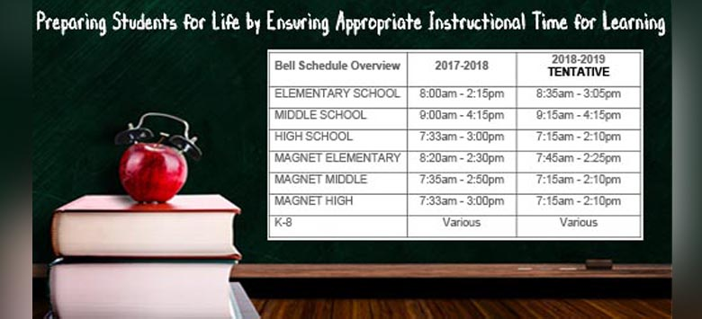 Image for Changes to School Schedule Have Been Tentatively Approved for 2018-2019