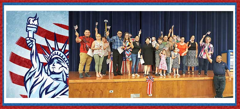 Image for New American citizens celebrate their achievement!
