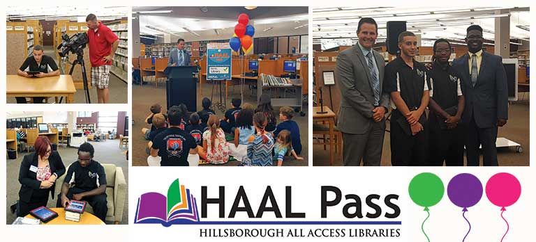 Image for HAAL Pass opens a world of additional public library resources to HCPS students