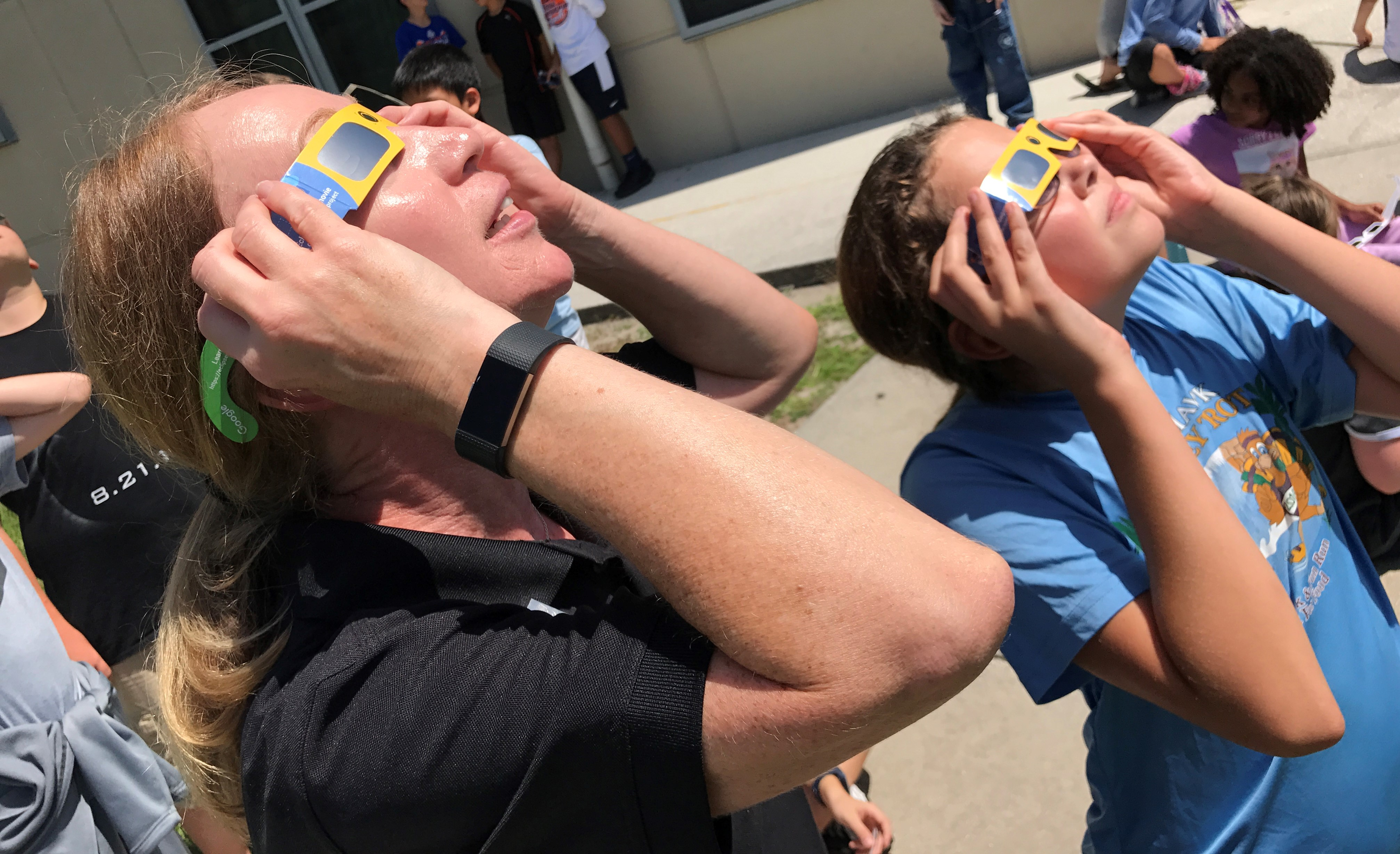 Image for Randall Middle Shines a light on the Solar Eclipse around the World