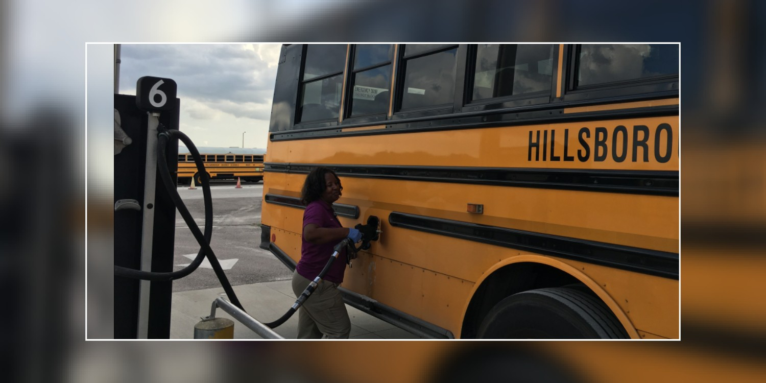 Image for HCPS School Bus Drivers & Staff Prepare to Help Hurricane Irma Evacuees