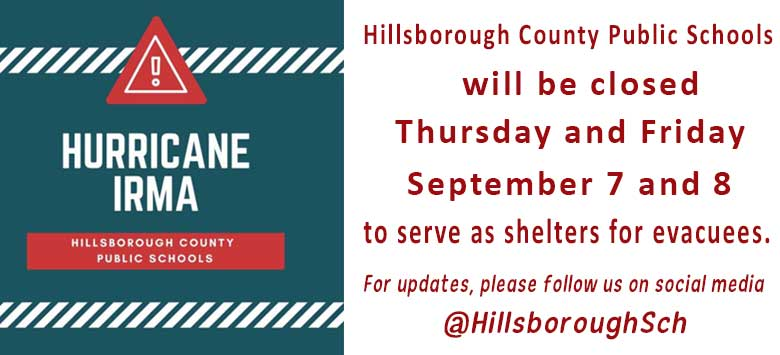 Image for Hillsborough County Public Schools Closed Thursday and Friday, September 7 and 8