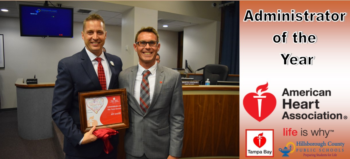 Image for Superintendent Eakins Named Administrator of the Year by American Heart Association