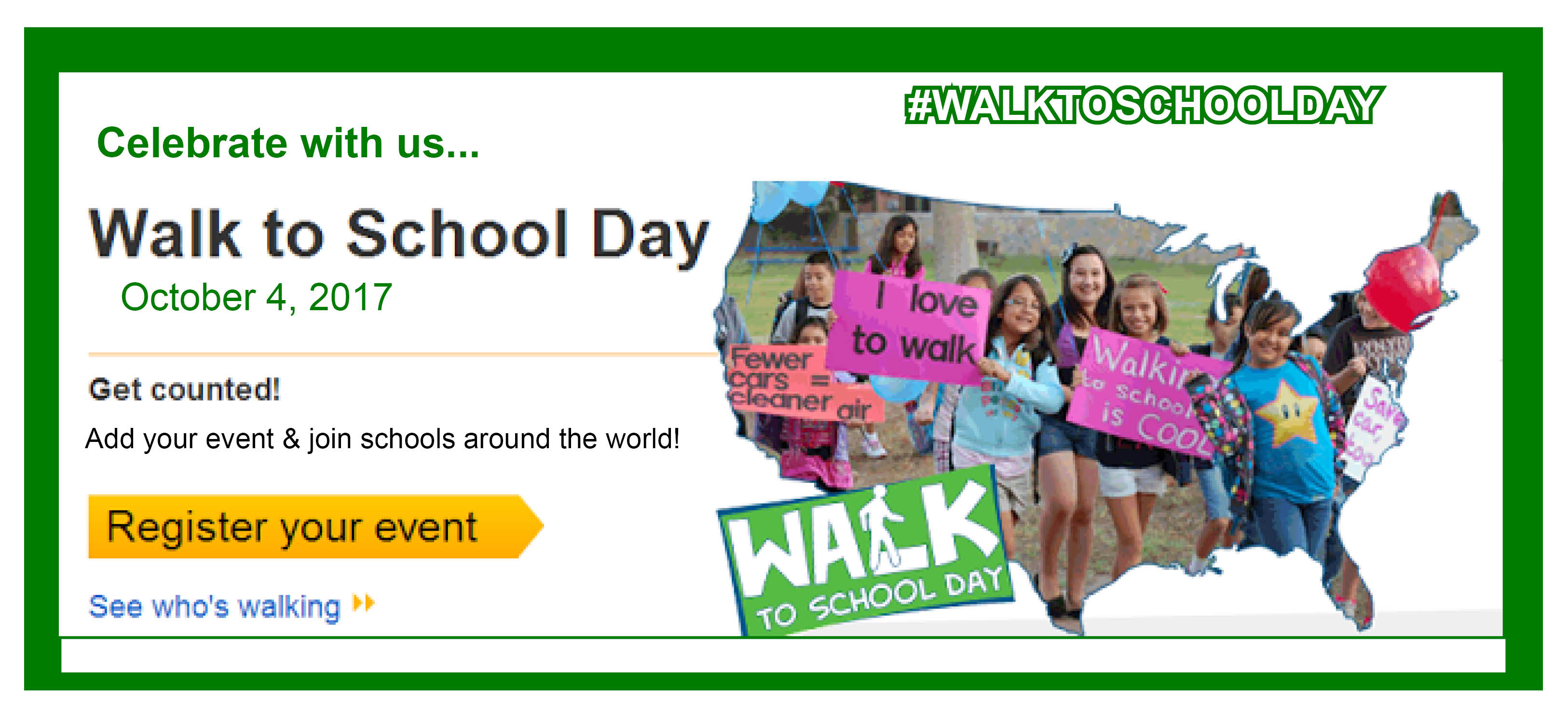 Image for HCPS laces up to celebrate Walk to School Day on October 4th