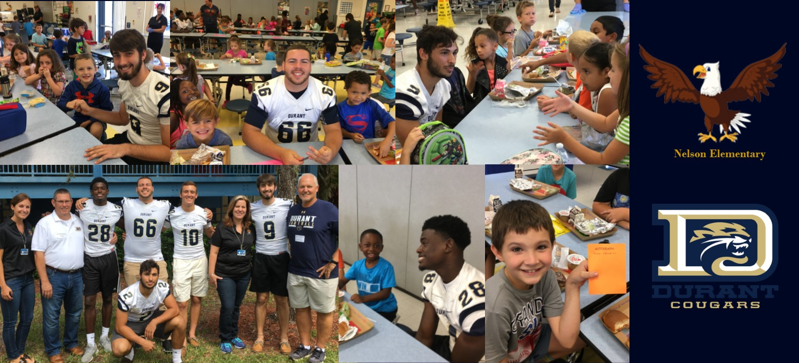 Image for Durant Football Players Bond with Students at Nelson Elementary School