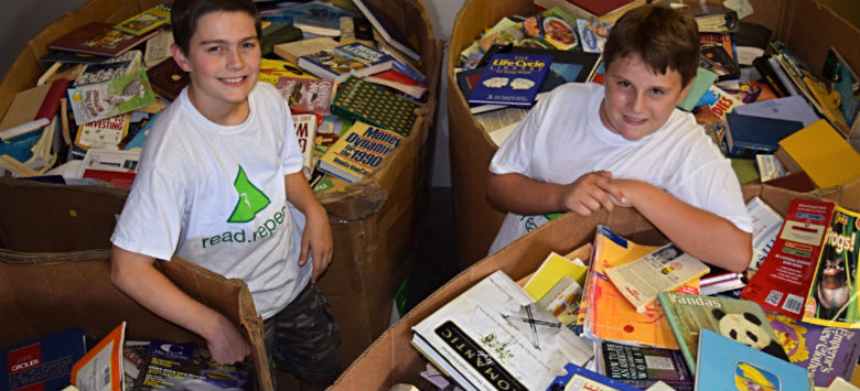 Image for Farnell students' charity read.repeat finds new homes for books