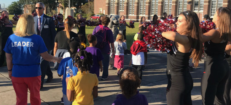 Image for Seminole Elementary students complete annual graduation walk to Hillsborough High