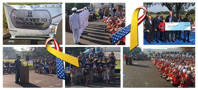Image for Charter Communication, History Channel Honored Veteran's at Tinker K-8