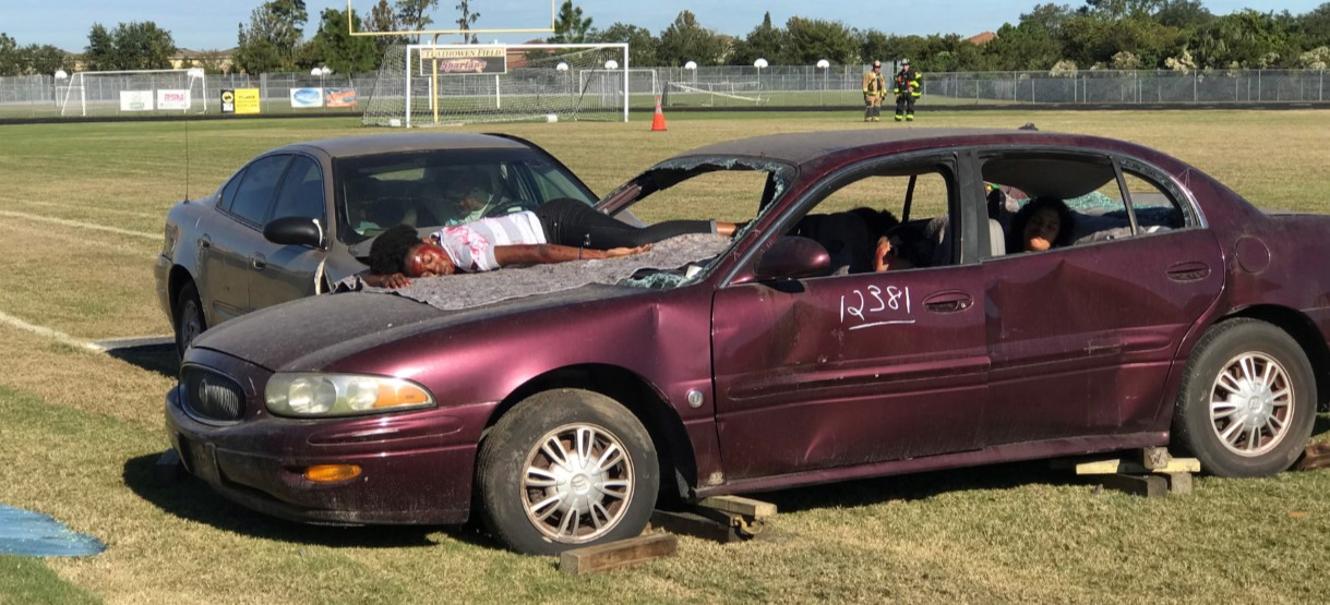 Image for Mock DUI Crash Drives Home Powerful Message to Spoto Students