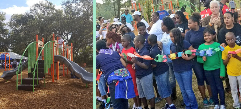 Image for Potter students and the East Tampa community celebrates new playground