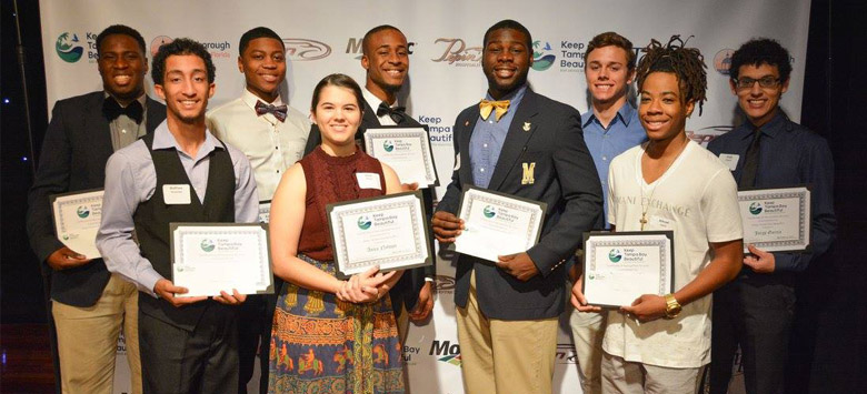 Image for Youth ambassadors recognized for their community service to Keep Tampa Bay Beautiful