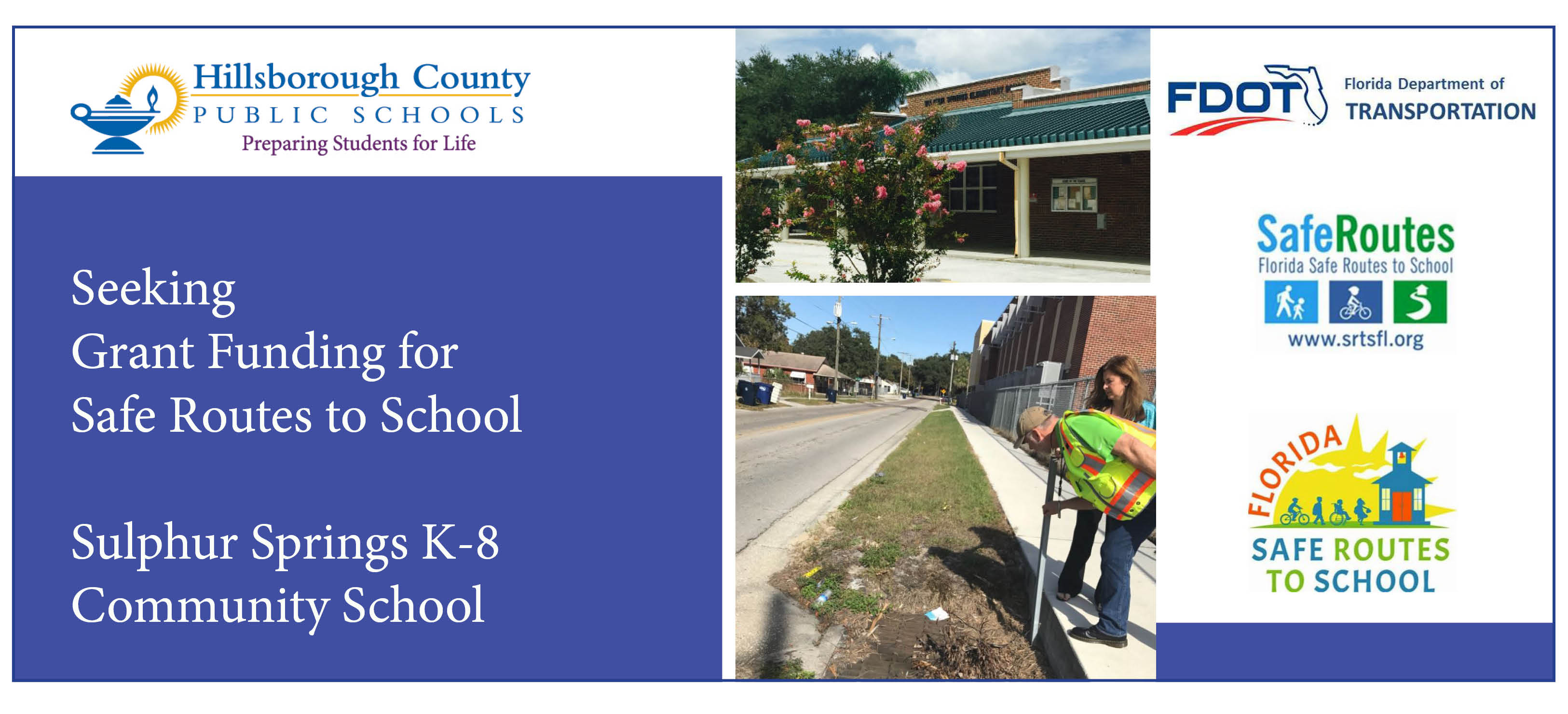 Image for Grant to bring Safe Routes to School at Sulphur Springs K-8 if approved