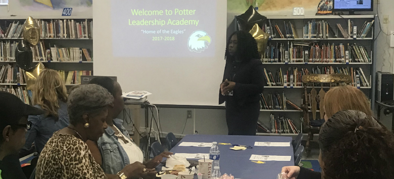 Image for Potter Eagles welcome community members to open house