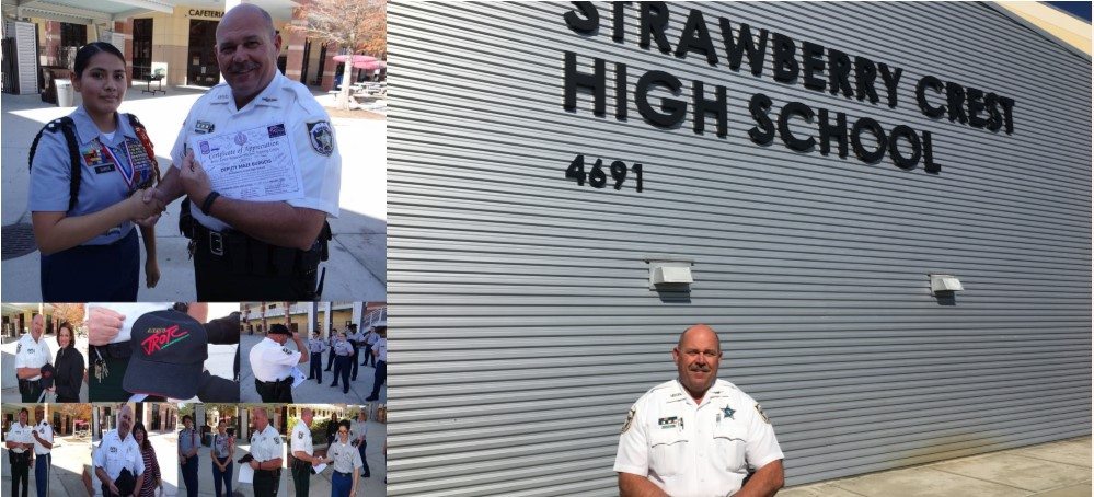 Image for Strawberry Crest JROTC Sends Deputy Burgess into Retirement with a Ceremonial Farewell