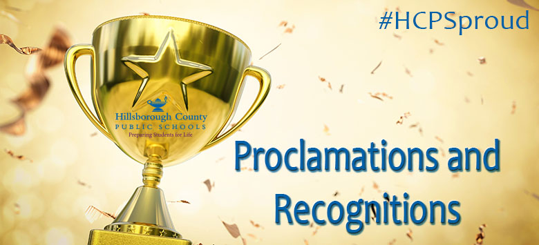 Image for Proclamations and recognitions at the January 23, 2018 Board Meeting