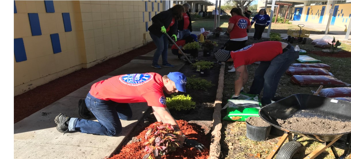 Image for Growing Business Partnerships Help Beautify Clair-Mel's Campus