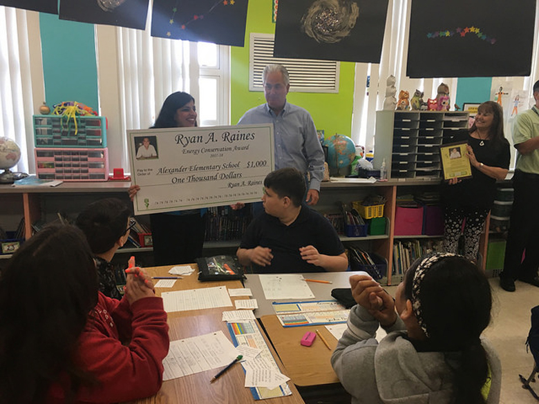 Image for Alexander Elementary Earns 2017-2018 Ryan A. Raines Energy Conservation Award