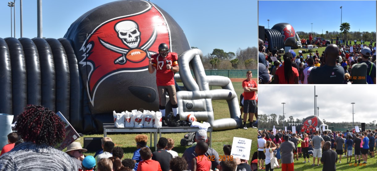 Image for Tampa Bay Buccaneers and Idlewild Baptist Church provide students a day packed with football, food and encouragement