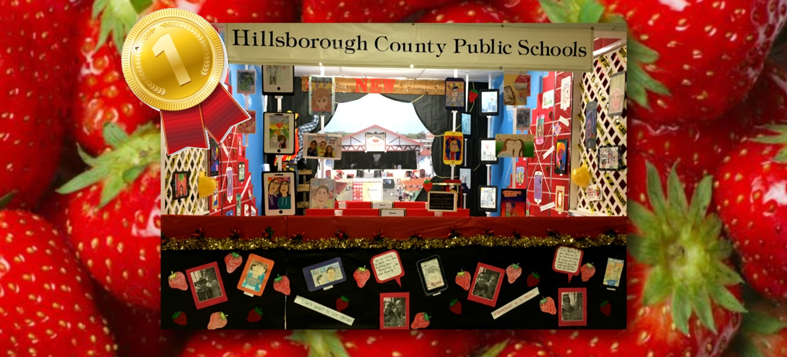 Image for HCPS Display Takes 1st Place at the 2018 Florida Strawberry Festival