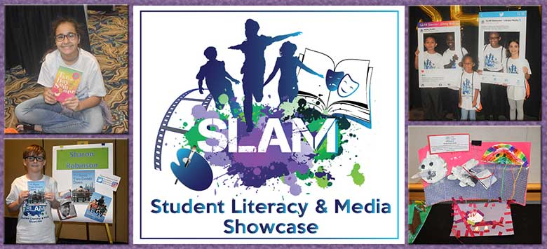 Image for Books inspire student creativity at the Second Annual SLAM Showcase