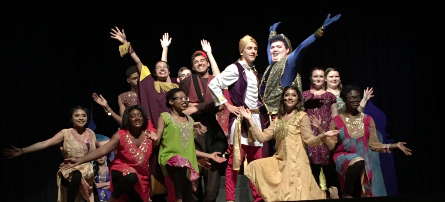 Image for Plant City High School transformed into Agrabah for a dual language production of Aladdin