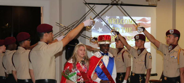 Image for King cadets celebrate at military ball and honor retiring Captain
