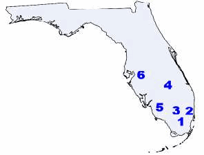 Tribal Map of Florida Then