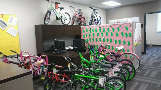Representation of some of the bikes to be donated